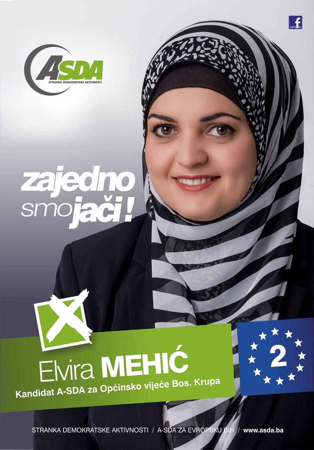Elvira Mehić, je protekle dvije godine obnašala funkciju predsjedavajuće Općinskog vijeća Bosanska Krupa. Elvira je rođena 3. marta 1986. godine u Bosanskoj Krupi, gdje je i završila srednju školu, te […]