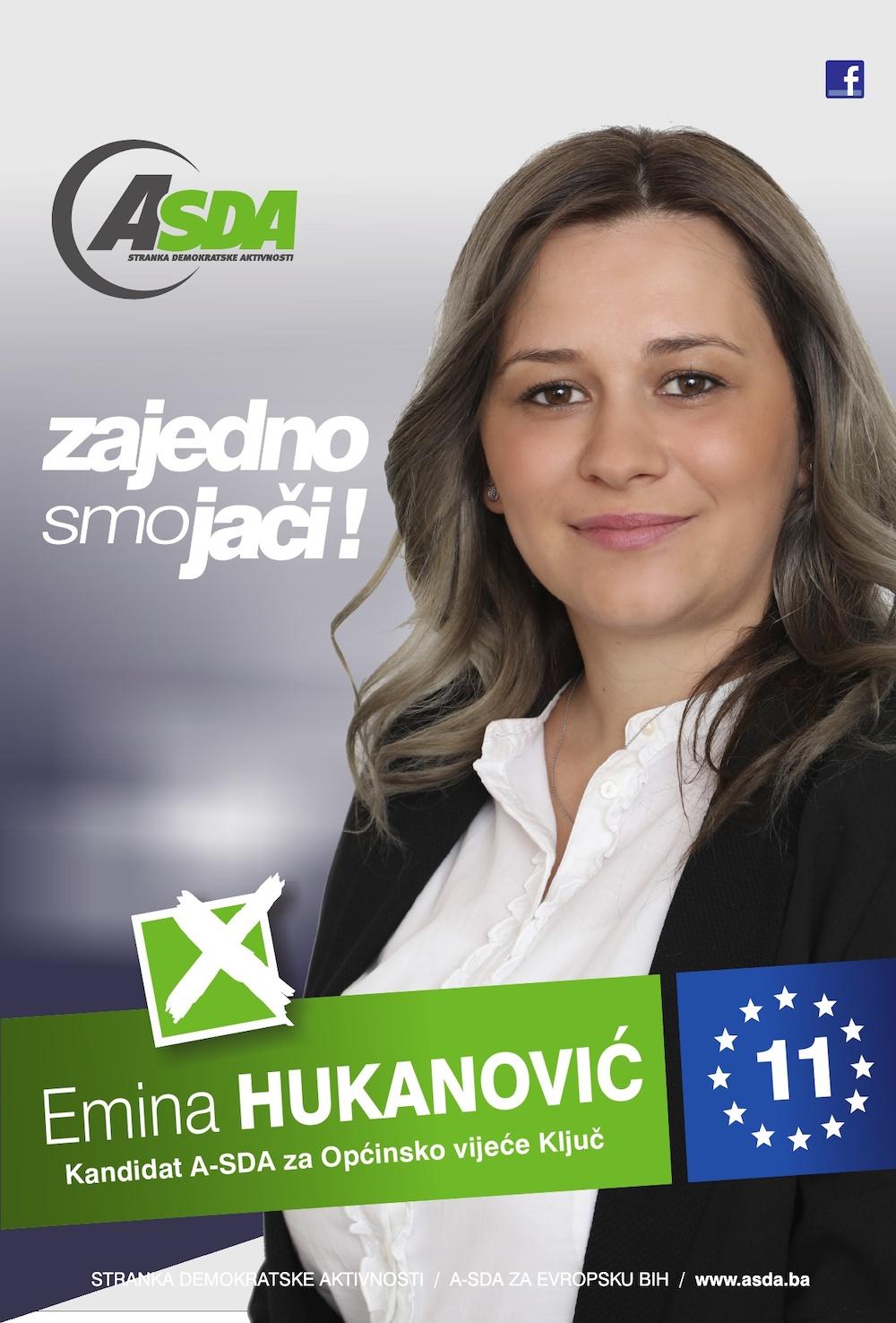 Rođena 22.05.1987. godine u Banja Luci. Po zanimanju je medicinski tehničar. Udana, majka dvoje djece. Članica Asocijacije žena ASDA Ključ. Nezaposlena.