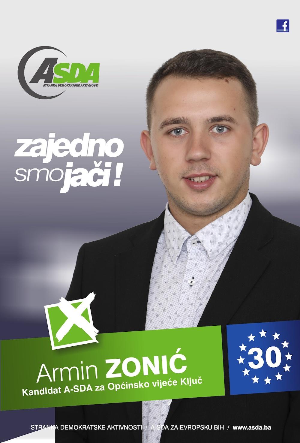 """Rođen 22.12.1996. godine u Zenici. Po zanimanju je saobraćajni tehničar. Zaposlen je u JKP """"Rad"""" d.o.o. Ključ."""